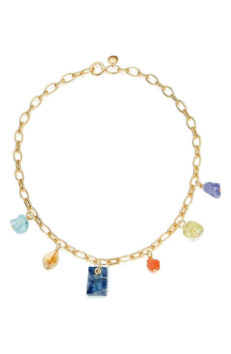 MONICA VINADER x Caroline Issa Mixed Gemstone Necklace, Main, color, 710