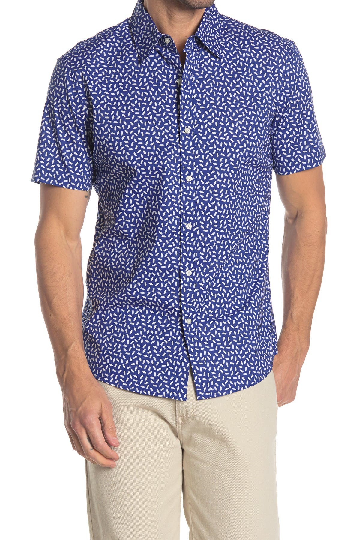 Image of Michael Kors Short Sleeve Tic Tac Print Shirt