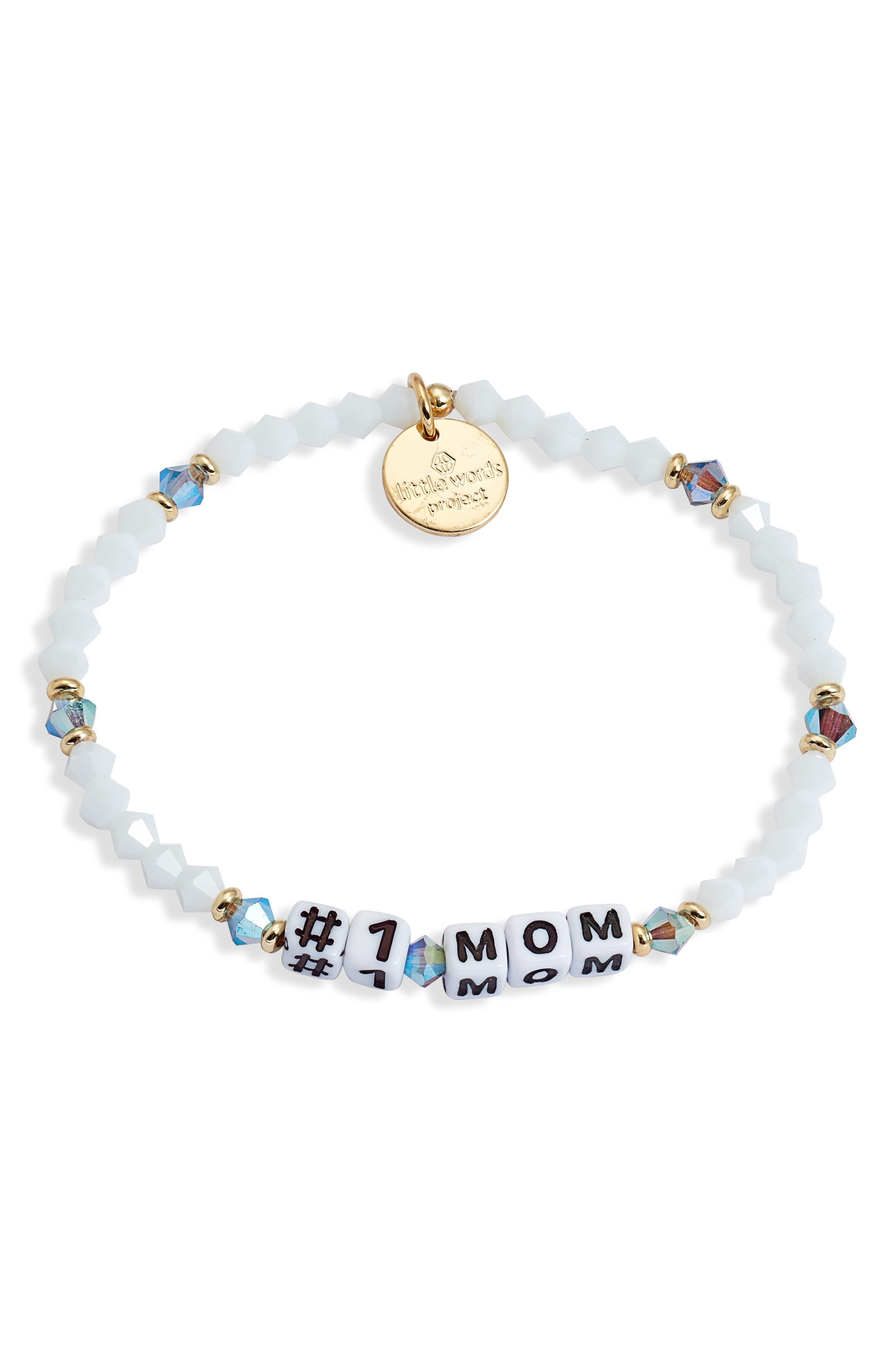 No. 1 Mom Beaded Bracelet