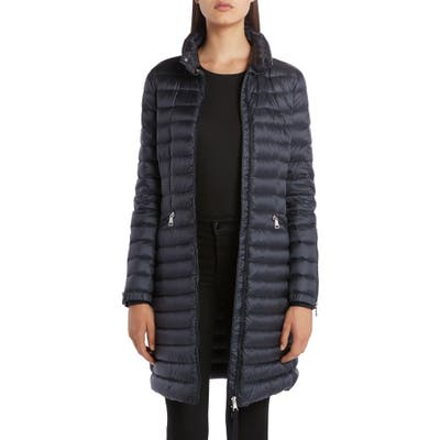 Moncler Sable Lightweight Down Quilted Puffer Coat, (fits like 4-6 US) - Blue