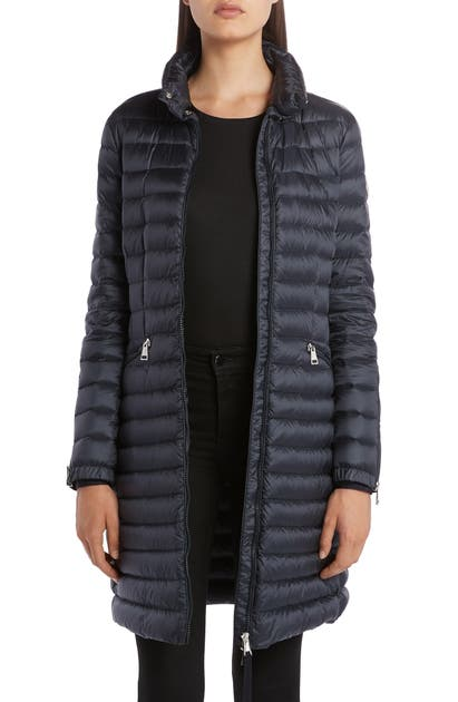 Moncler Sable Lightweight Down Quilted Puffer Coat In Navy