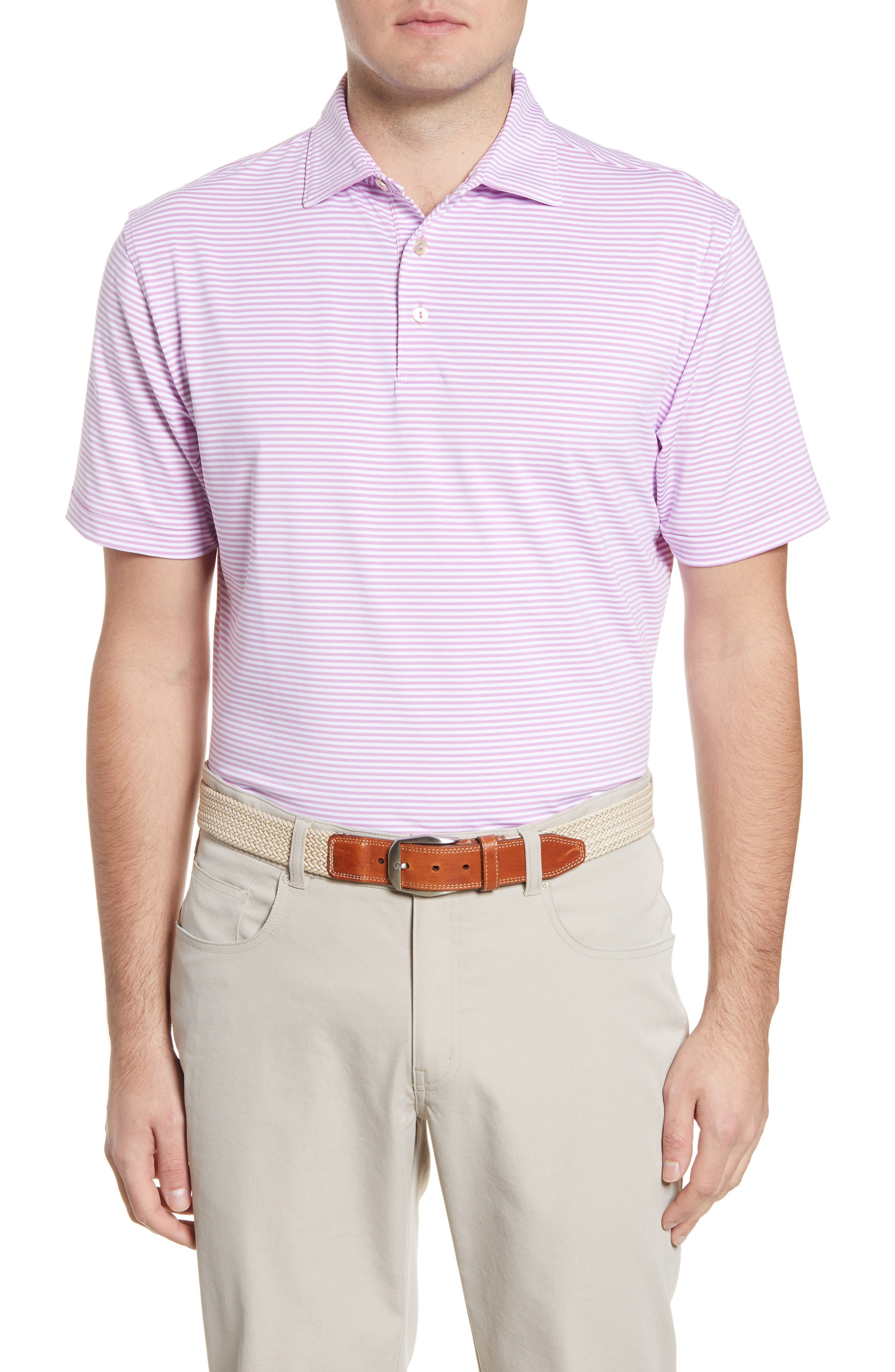 Image of Peter Millar Stripe Stretch Polo