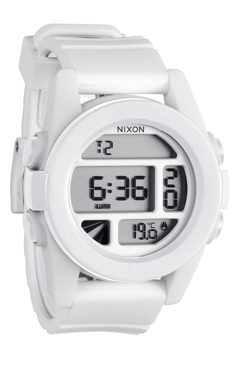 NIXON 'The Unit' Round Digital Watch, 44mm, Main, color, 100