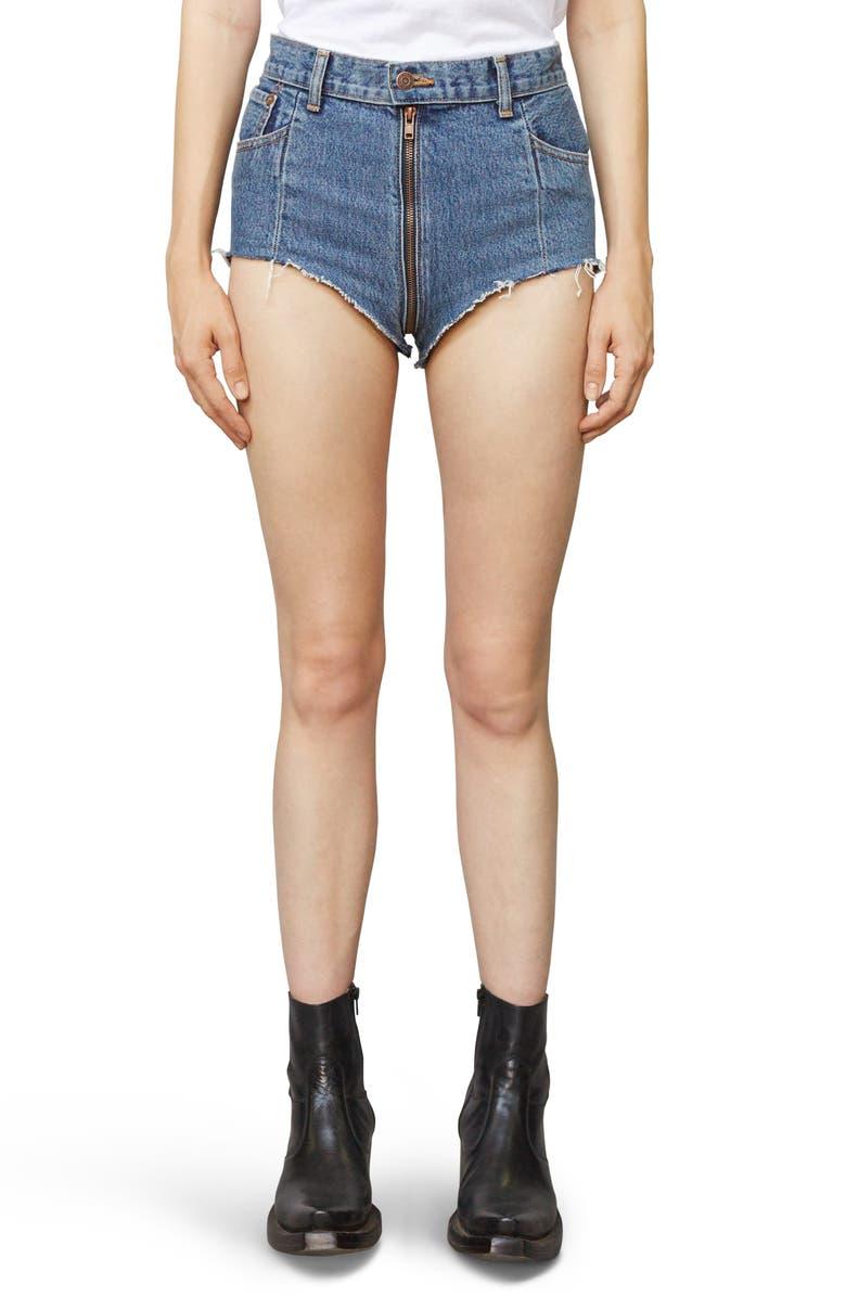 VETEMENTS x Levi's<sup>®</sup> Denim Hot Pants, Main, color, 400