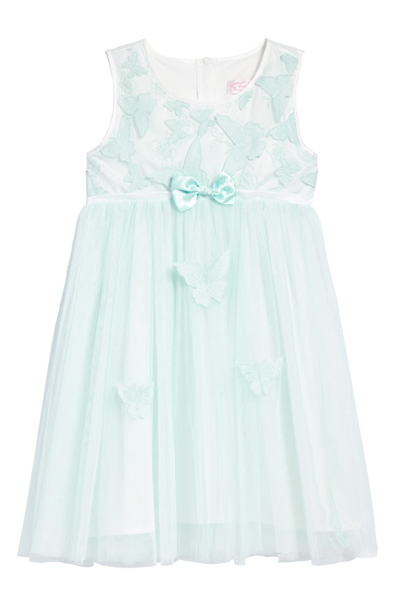 POPATU Butterfly Appliqué Tulle Dress, Main, color, 325