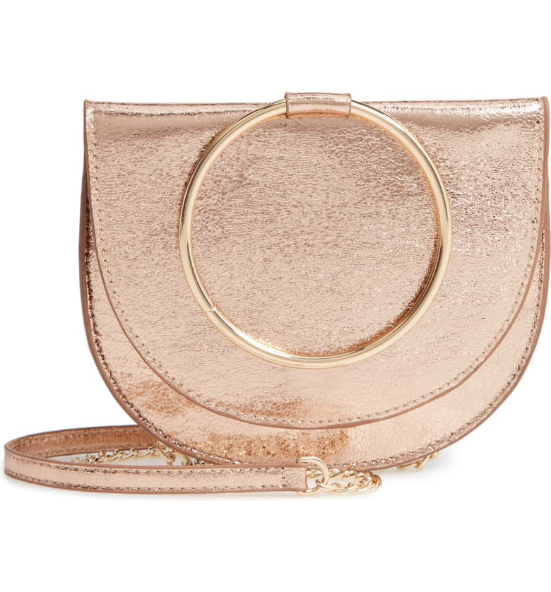 Reese Crackle Ring Crossbody Bag by TrouvÉ