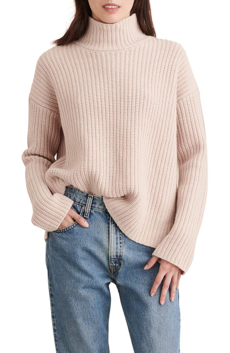ALEX MILL Seattle Merino Wool & Cashmere Sweater, Main, color, OATMEAL