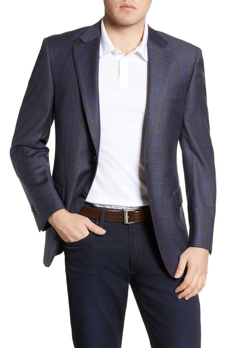 PETER MILLAR Flynn Plaid Wool Sport Coat, Main, color, 400
