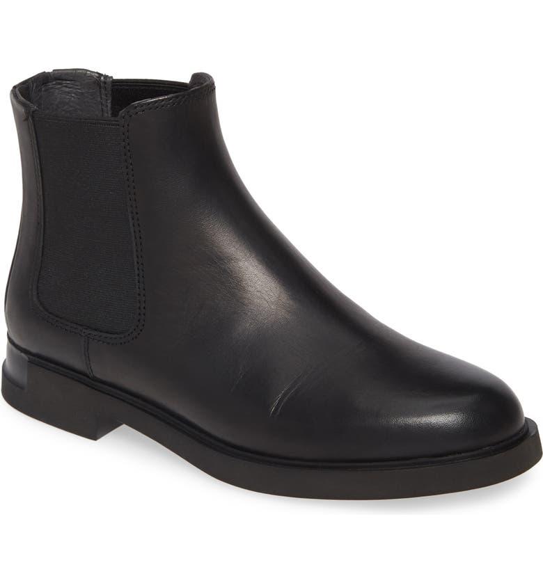 CAMPER Iman Chelsea Boot, Main, color, BLACK LEATHER