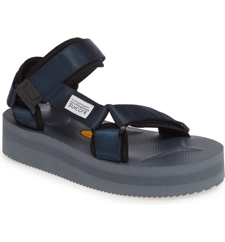 SUICOKE Depa Platform Sandal, Main, color, NAVY