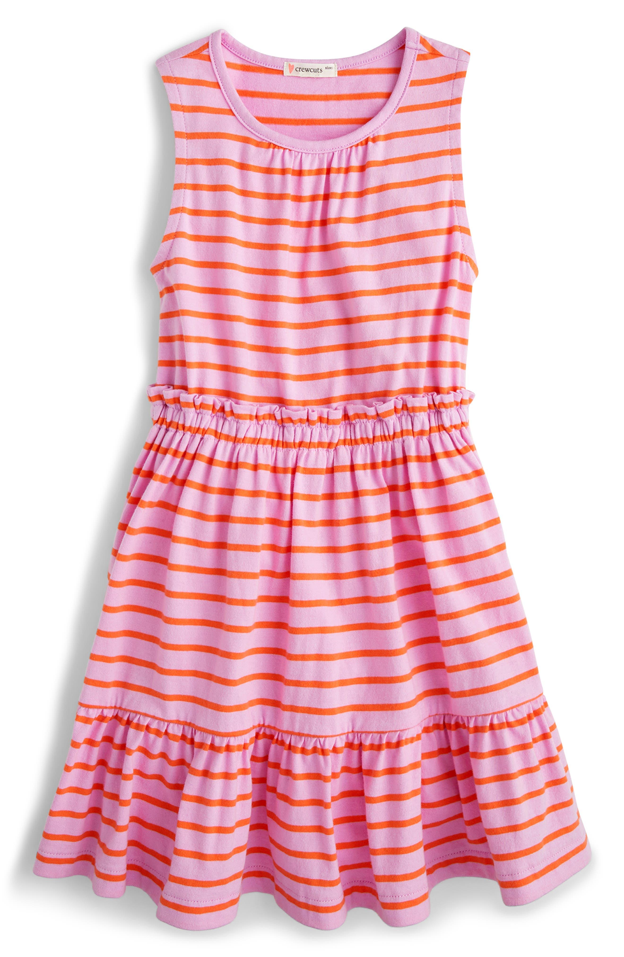Toddler Girls Crewcuts By Jcrew Sleeveless Ruffle Dress Size 3T  White