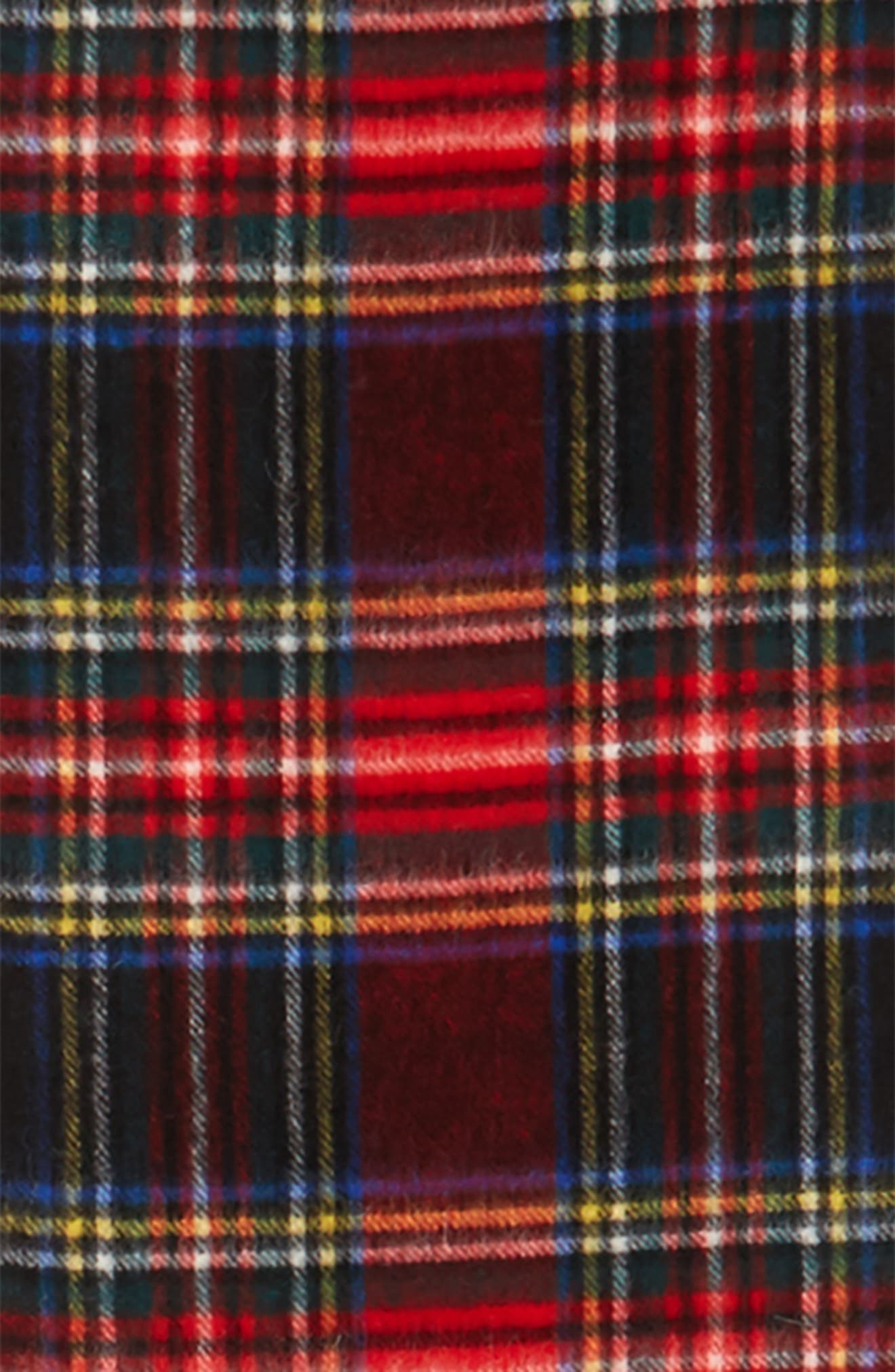 ,                             New Check Lambswool & Cashmere Scarf,                             Alternate thumbnail 6, color,                             001