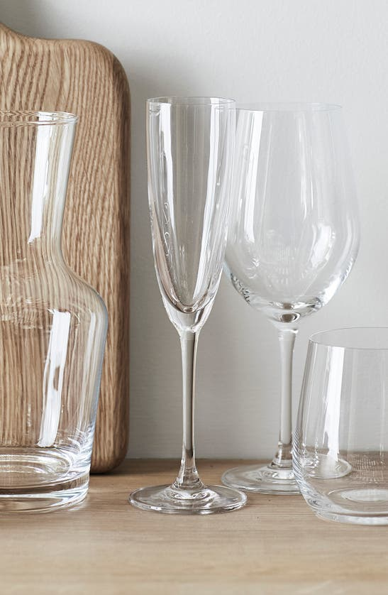 The White Company Belgravia Champagne Flutes Set Of Four In Clear