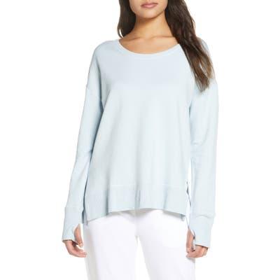 The White Company Side Split Sweatshirt, Blue