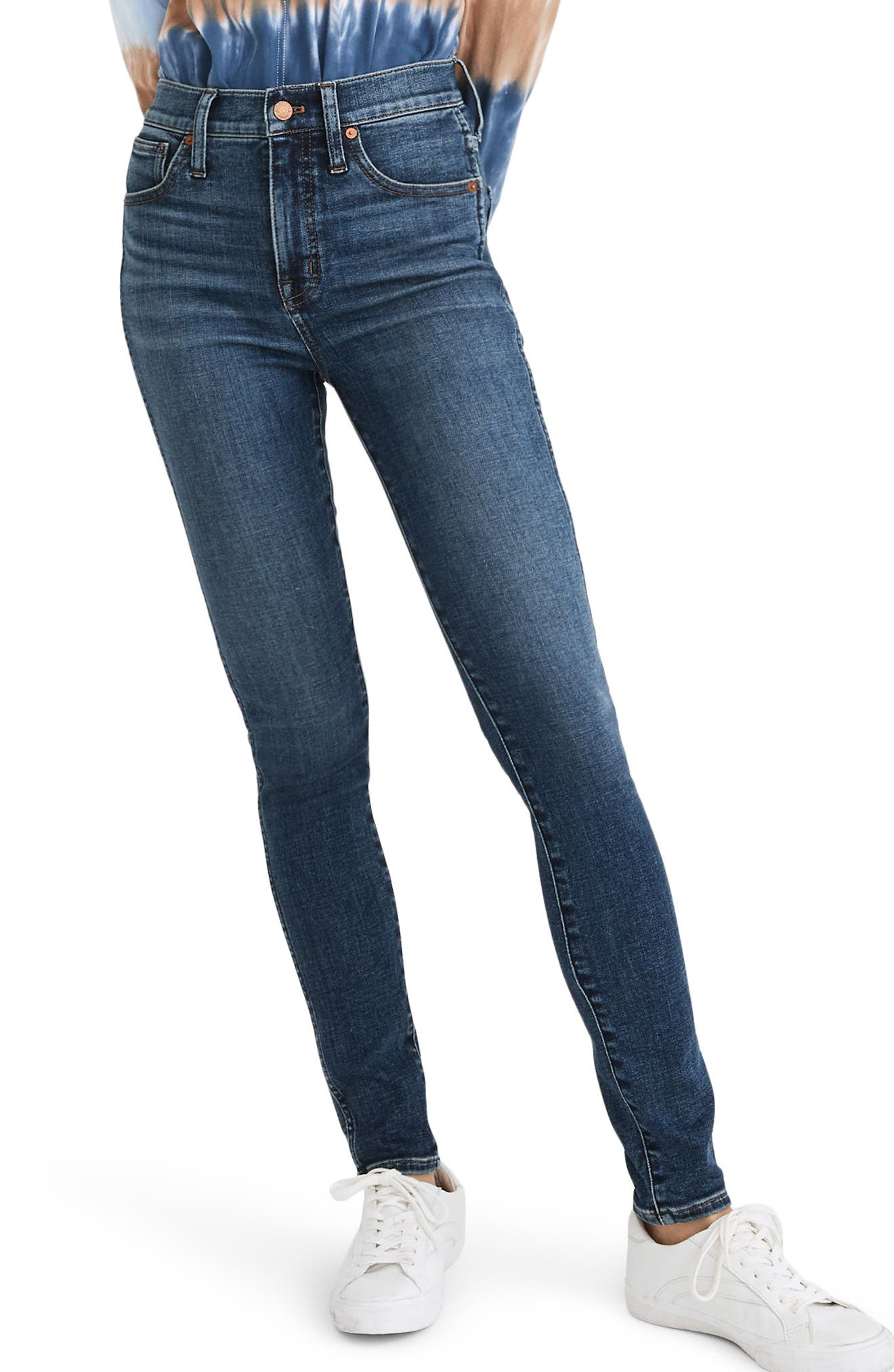 Madewell 10-Inch High Rise Ankle Skinny Jeans (Cordell)   Nordstrom