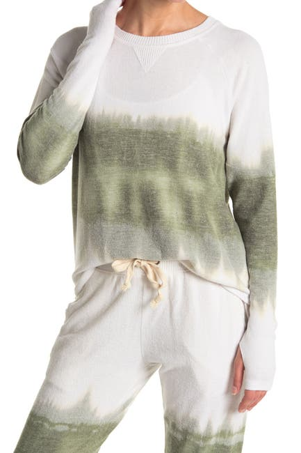 Image of Theo and Spence Yummy Print Thumbhole Pullover