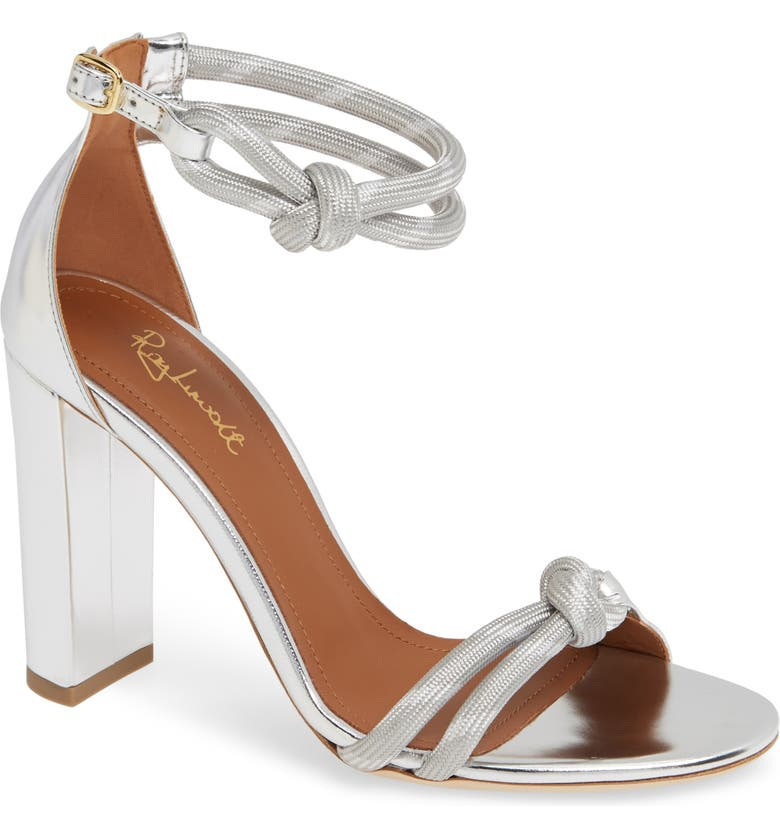 MALONE SOULIERS Fenn Rope Sandal, Main, color, SILVER LEATHER