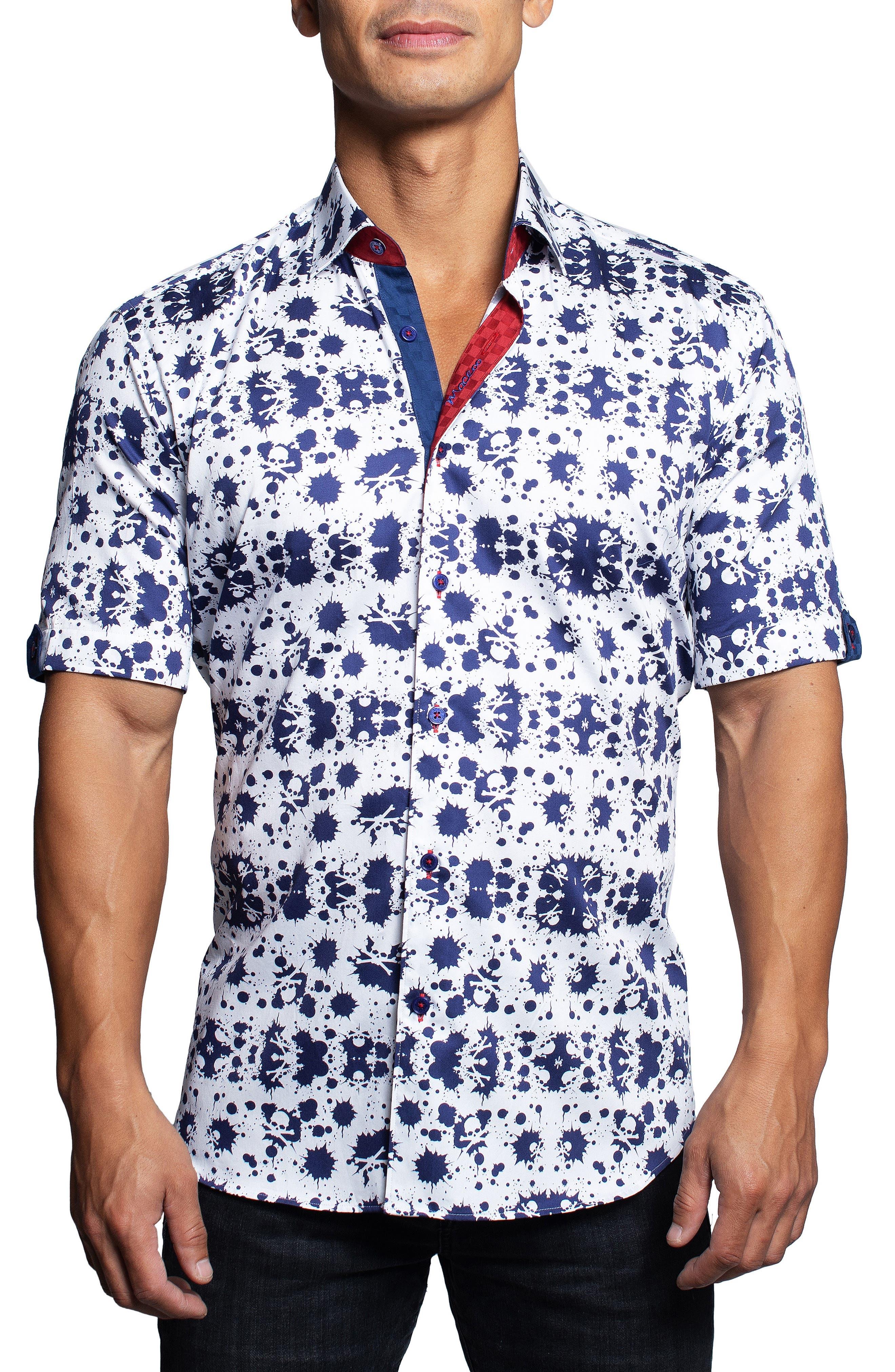 Galileo Splashskull Short Sleeve Button-Up Shirt