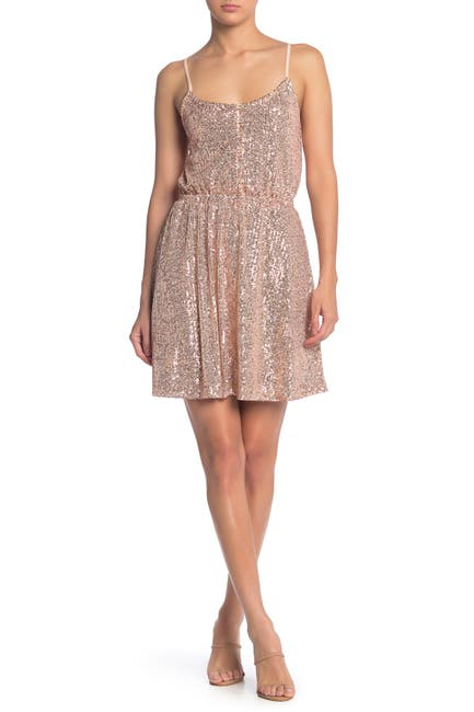 Image of MELLODAY Sequined Button Top Dress
