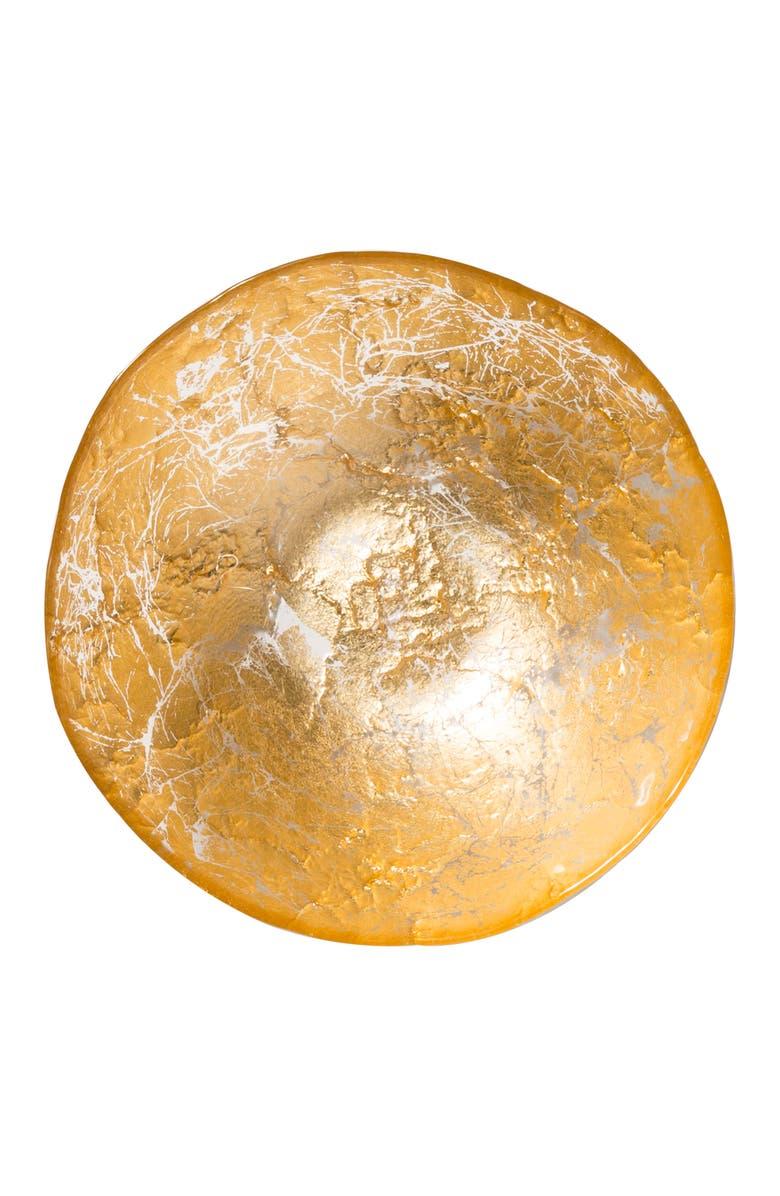 VIETRI Moon Glass Bowl, Main, color, GOLD