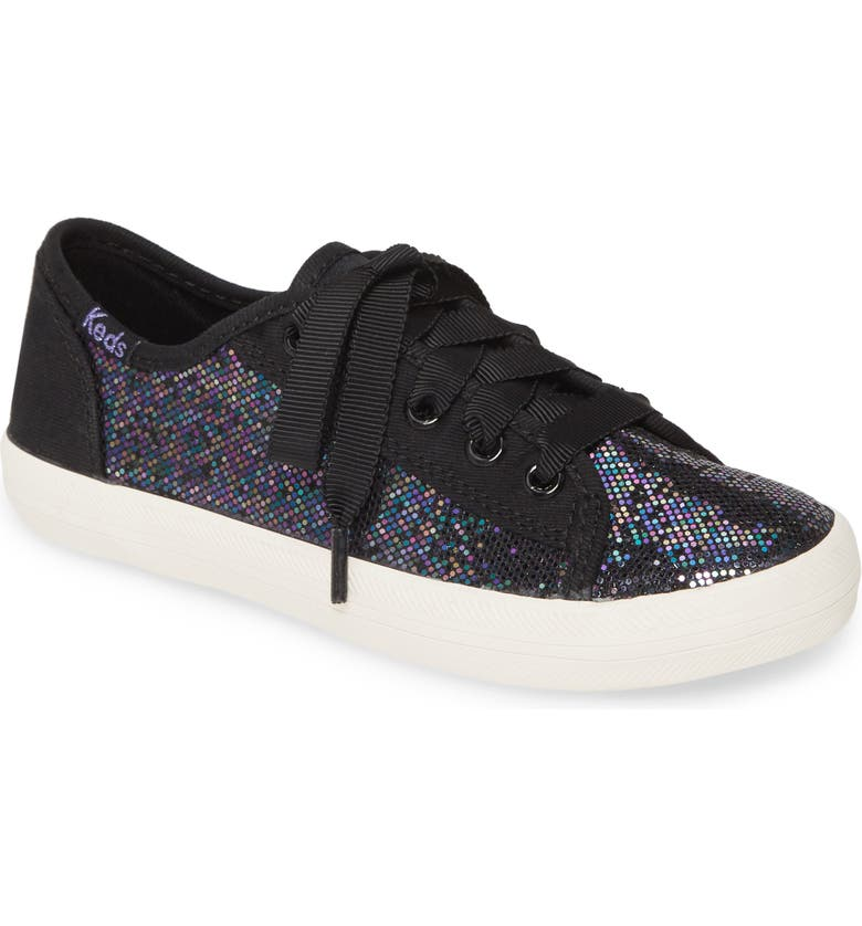 KEDS<SUP>®</SUP> Kickstart Seasonal Sneaker, Main, color, BLACK SPARKLE