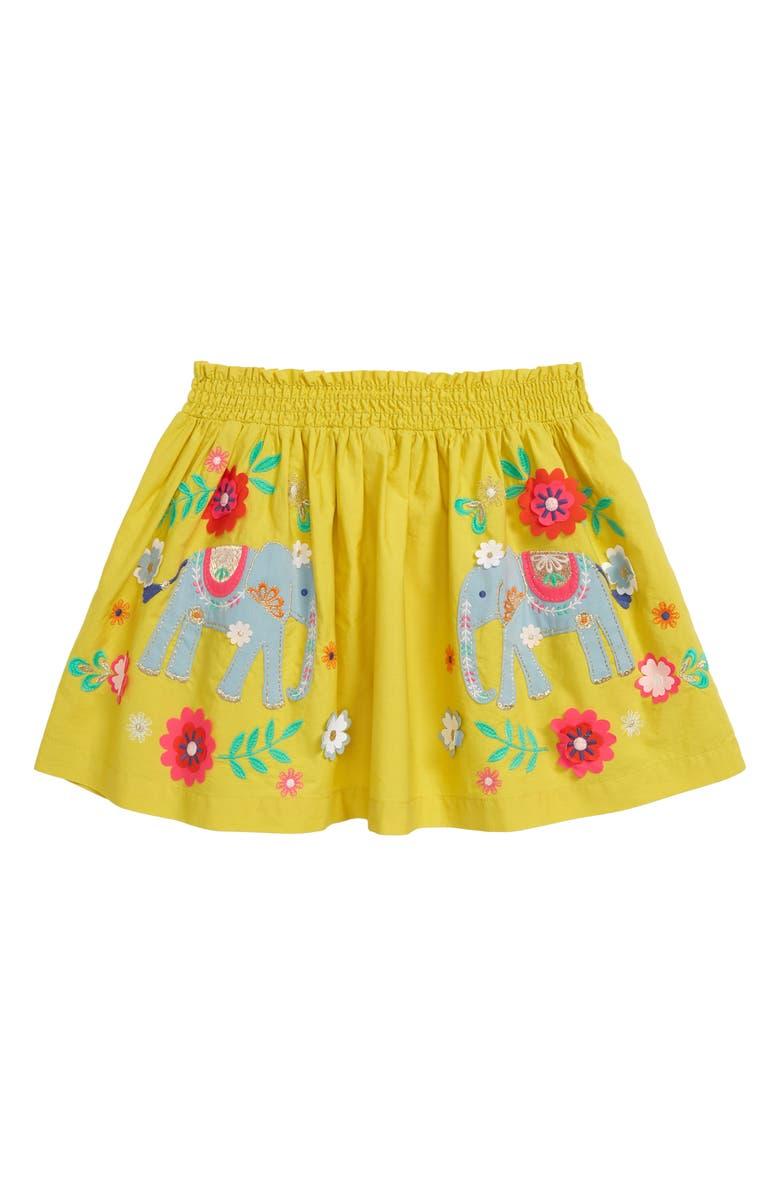 MINI BODEN Appliqué Skirt, Main, color, 724