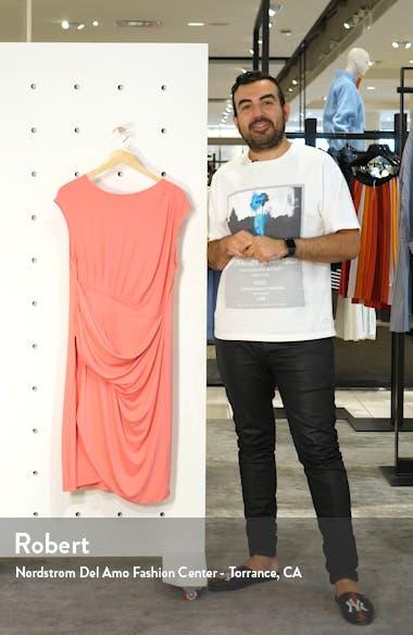 Draped Faux Wrap Dress, sales video thumbnail