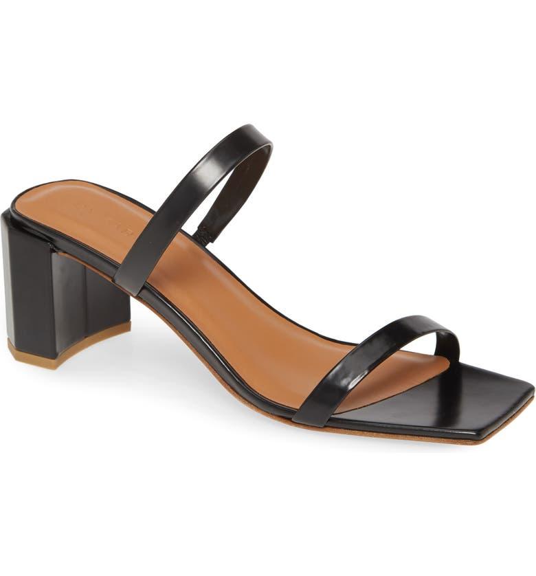 BY FAR Tanya Strappy Square Toe Sandal, Main, color, BLACK