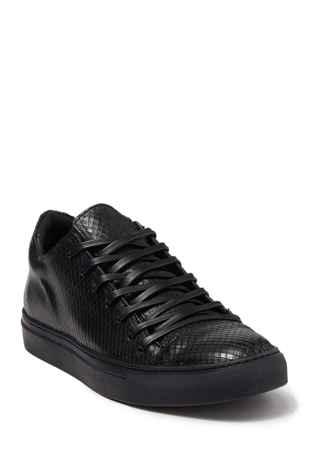 Image of John Varvatos Collection Reed Snake-Embossed Leather Sneaker