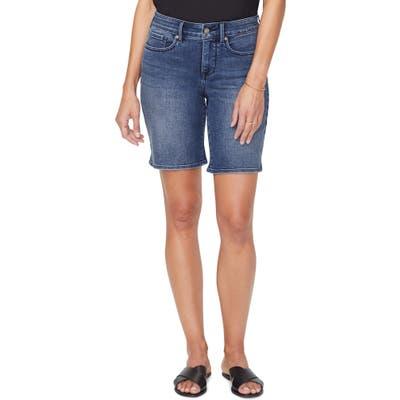 Nydj Ella Side Slit Denim Shorts, Blue