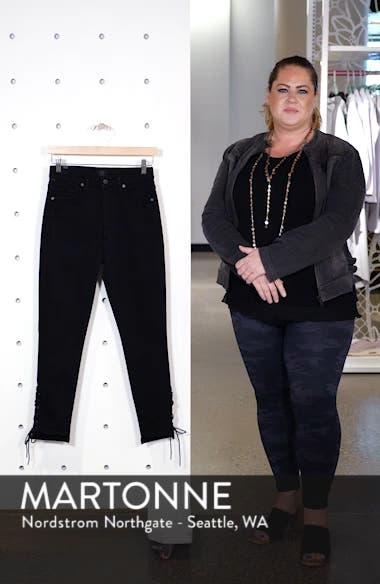 Olivia High Waist Lace-Up Hem Slim Jeans, sales video thumbnail