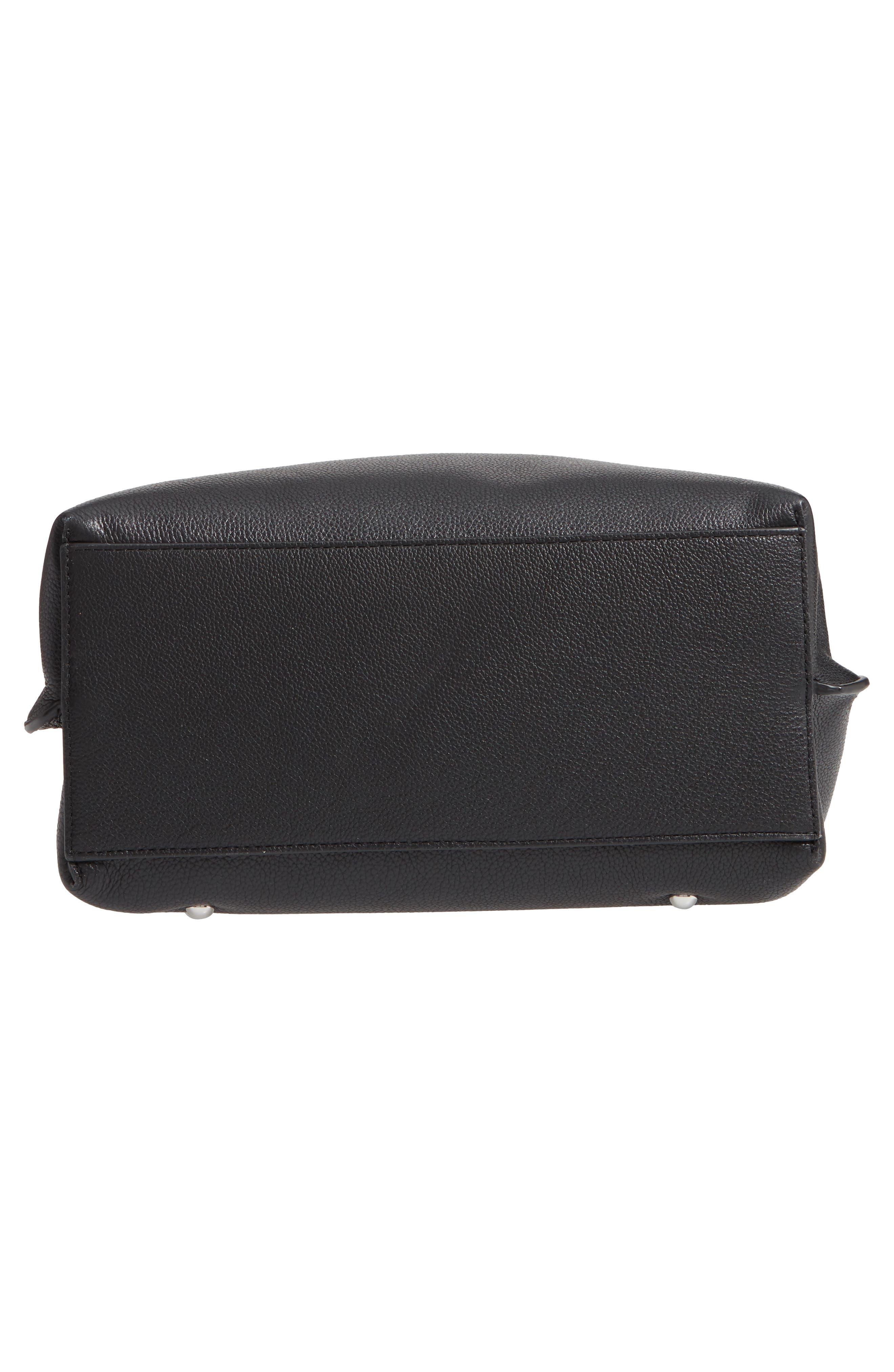 ,                             Megan Leather Crossbody Bag,                             Alternate thumbnail 7, color,                             BLACK