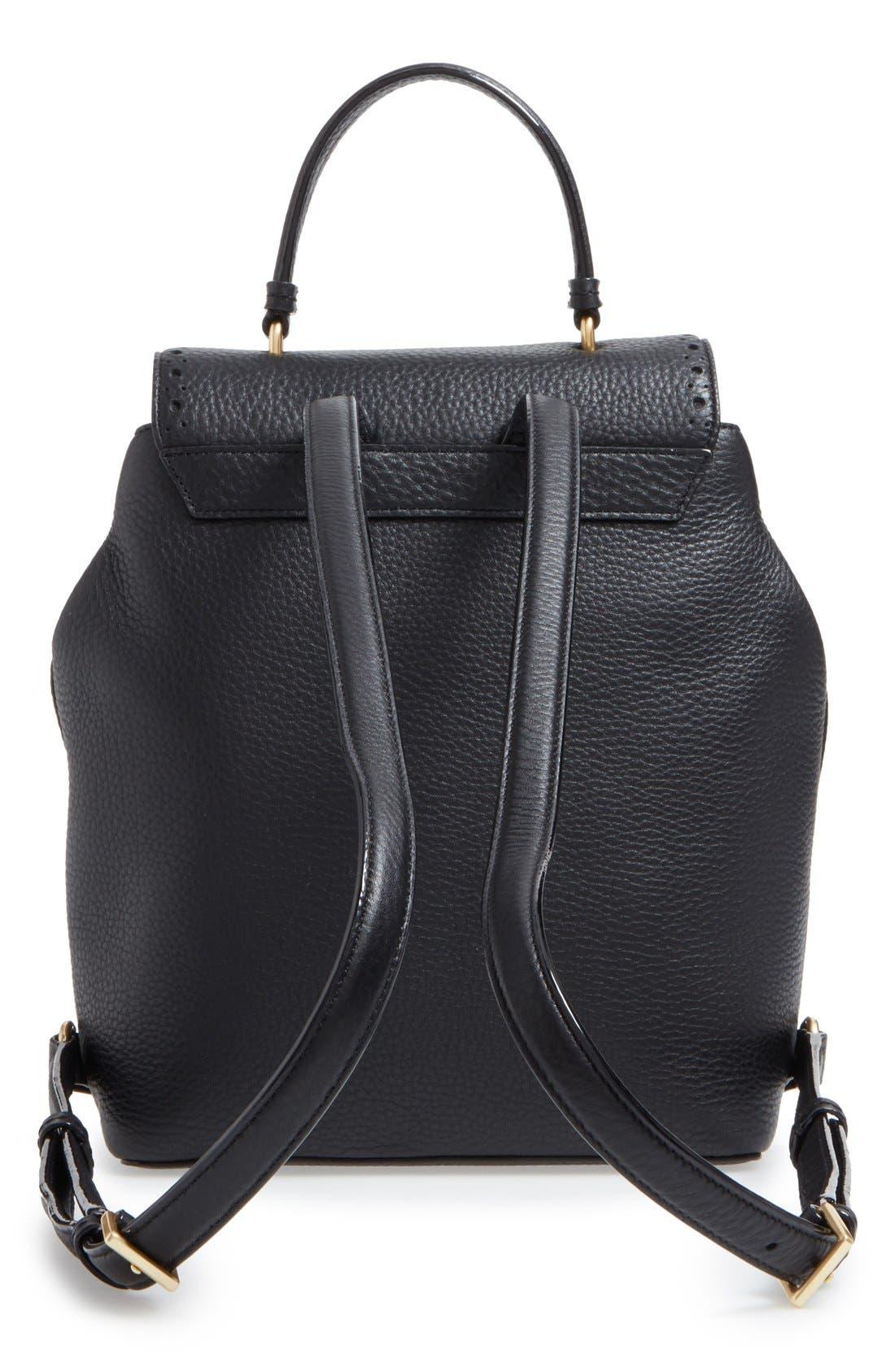 ,                             'james street - teba' leather backpack,                             Alternate thumbnail 3, color,                             001