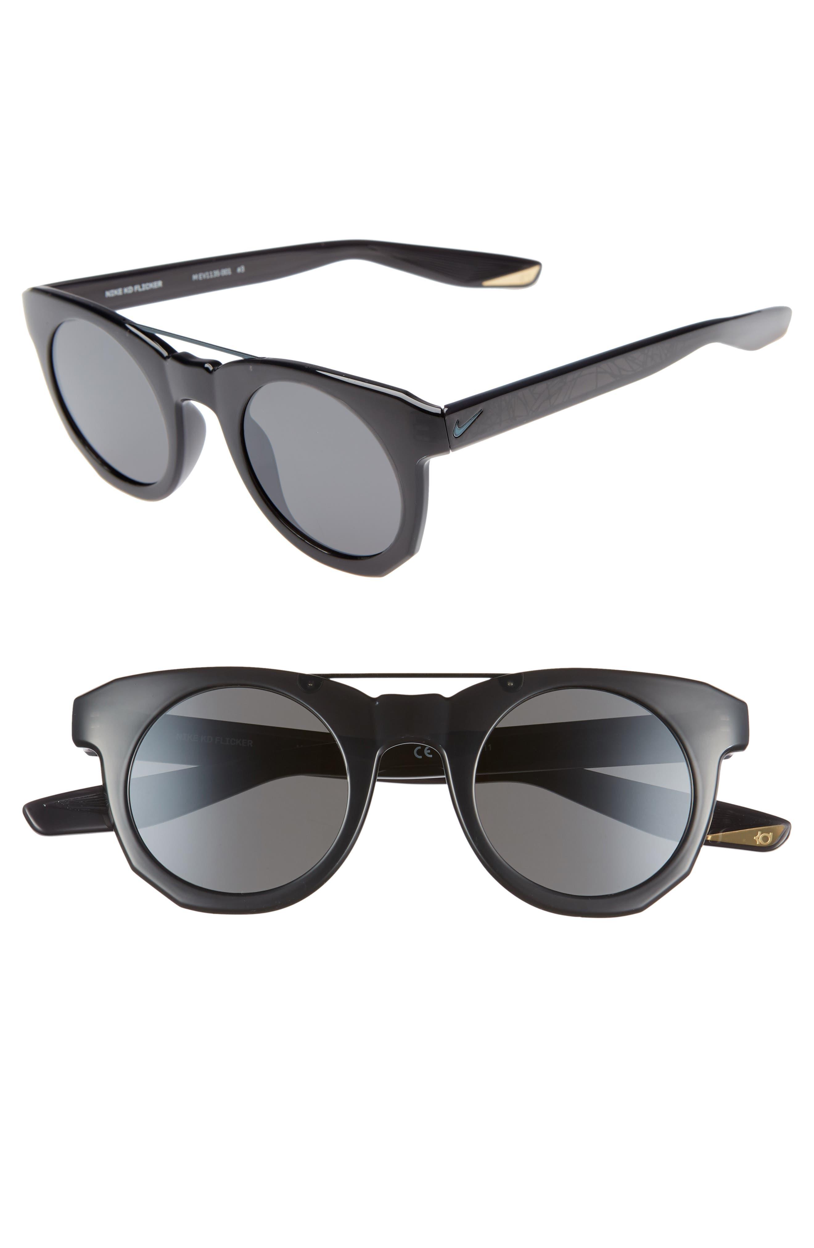 Nike Kd Flicker 4m Round Sunglasses - Oil Grey/ Dark Grey