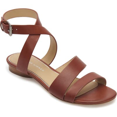 Etienne Aigner Orly Ankle Strap Sandal- Brown