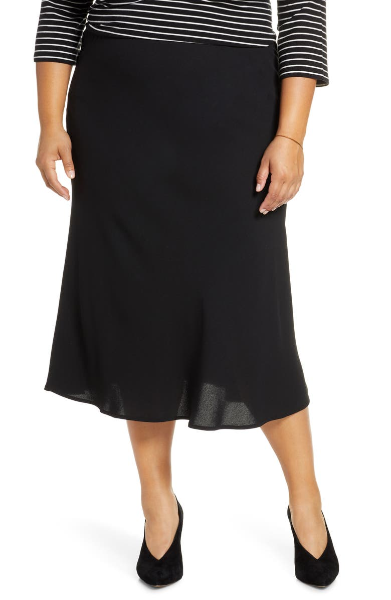HALOGEN<SUP>®</SUP> Bias Cut Midi Skirt, Main, color, 001