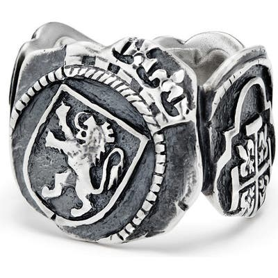 David Yurman Shipwreck Signet Coin Ring, 20mm