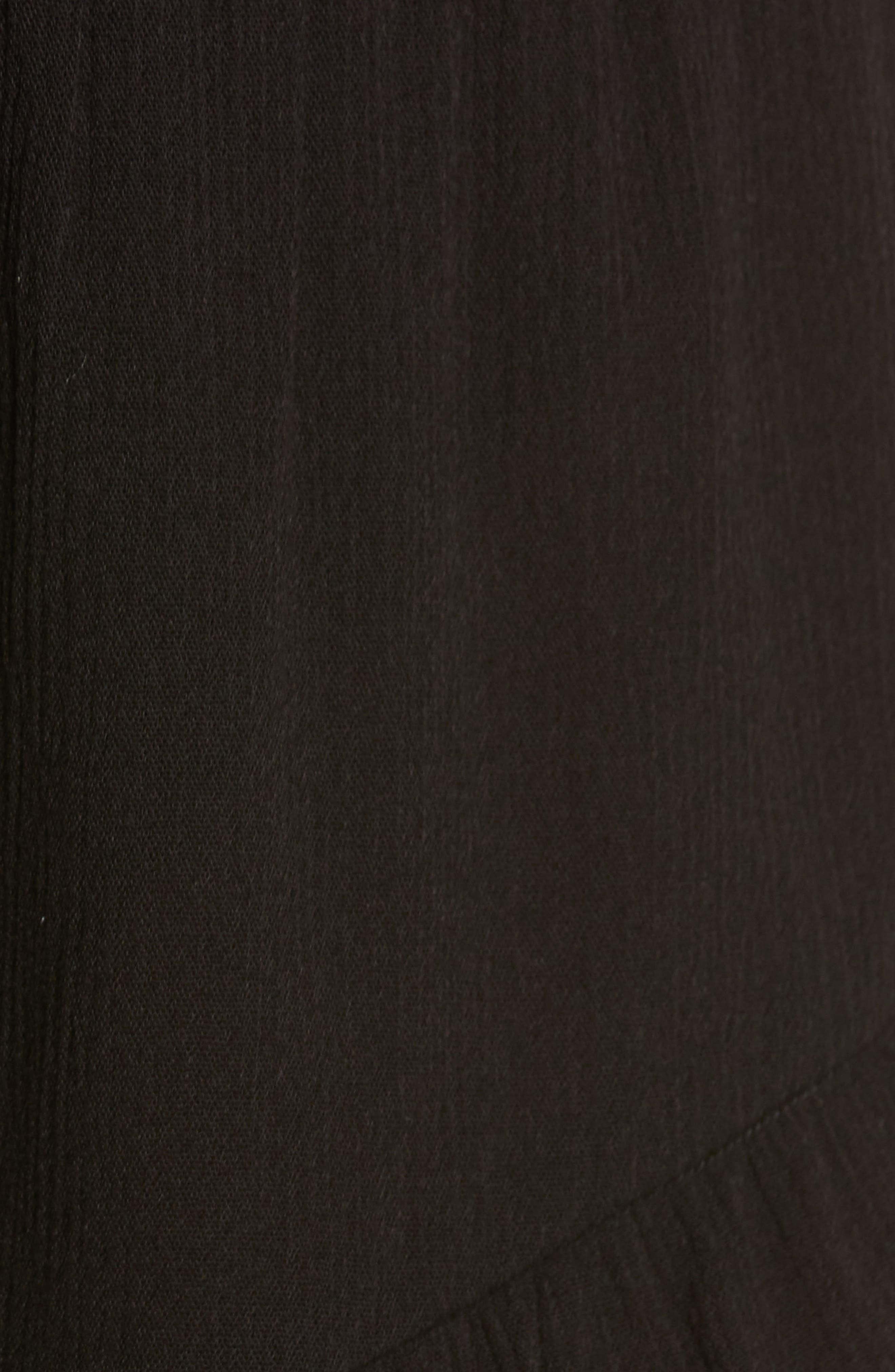 ,                             Flounce Cover-Up Shorts,                             Alternate thumbnail 6, color,                             BLACK