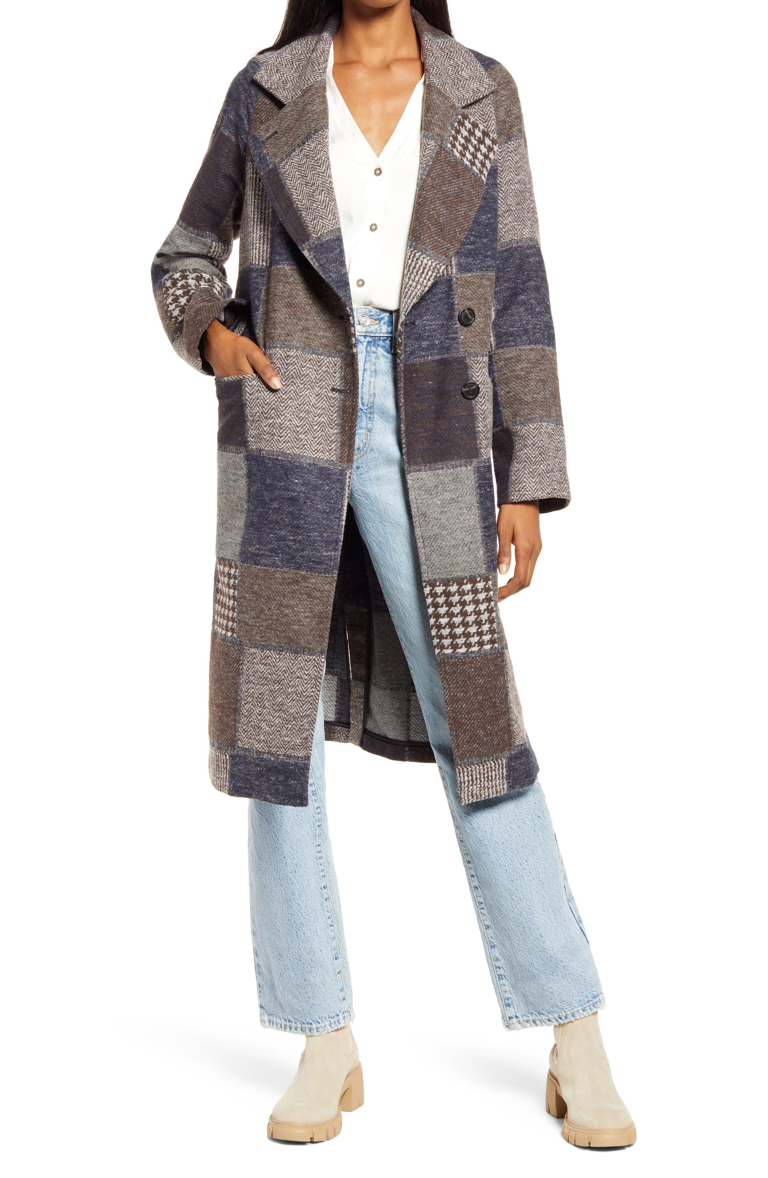 Walker Patchwork Longline Coat