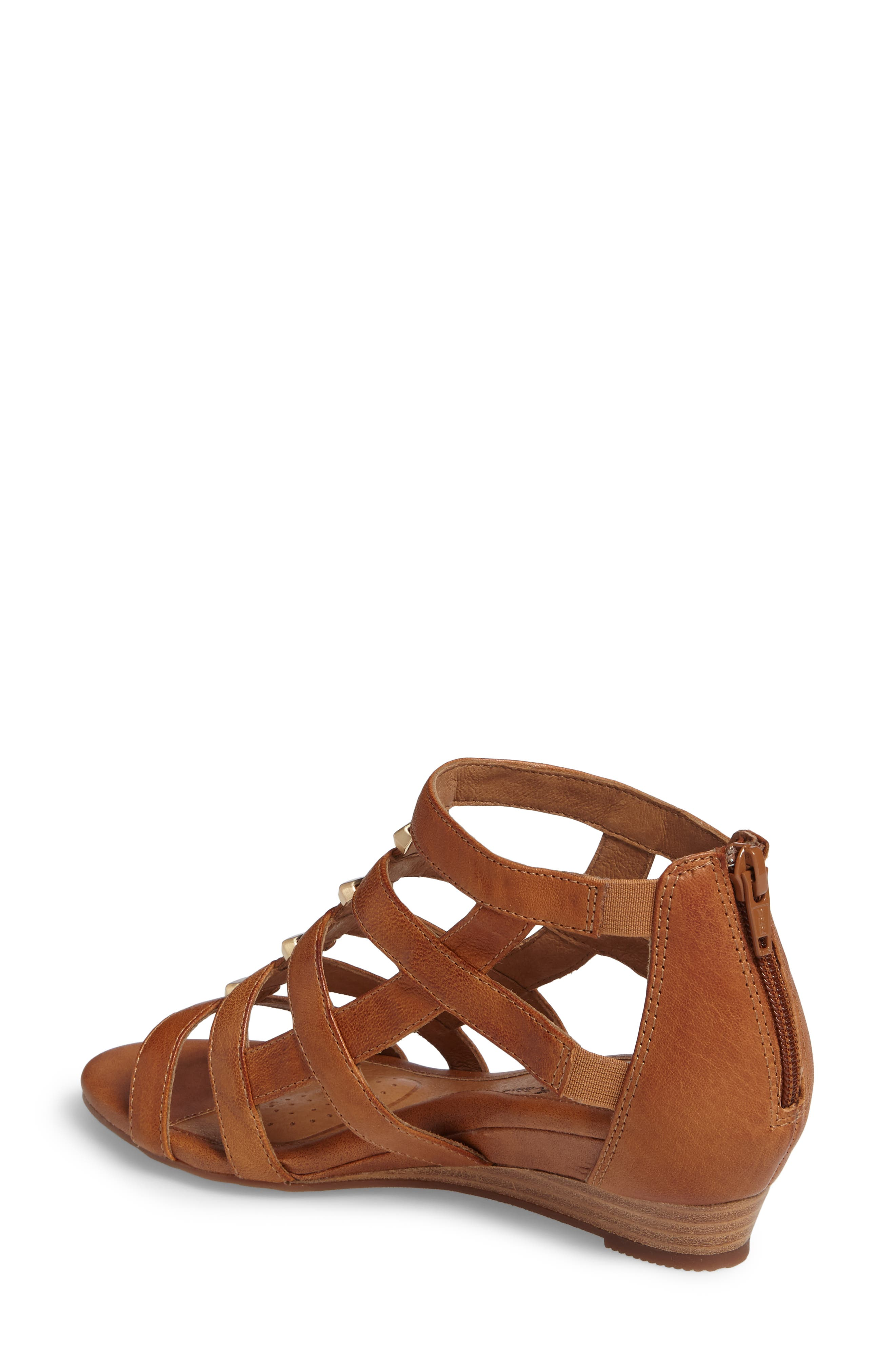 ,                             Rio Gladiator Wedge Sandal,                             Alternate thumbnail 2, color,                             LUGGAGE LEATHER