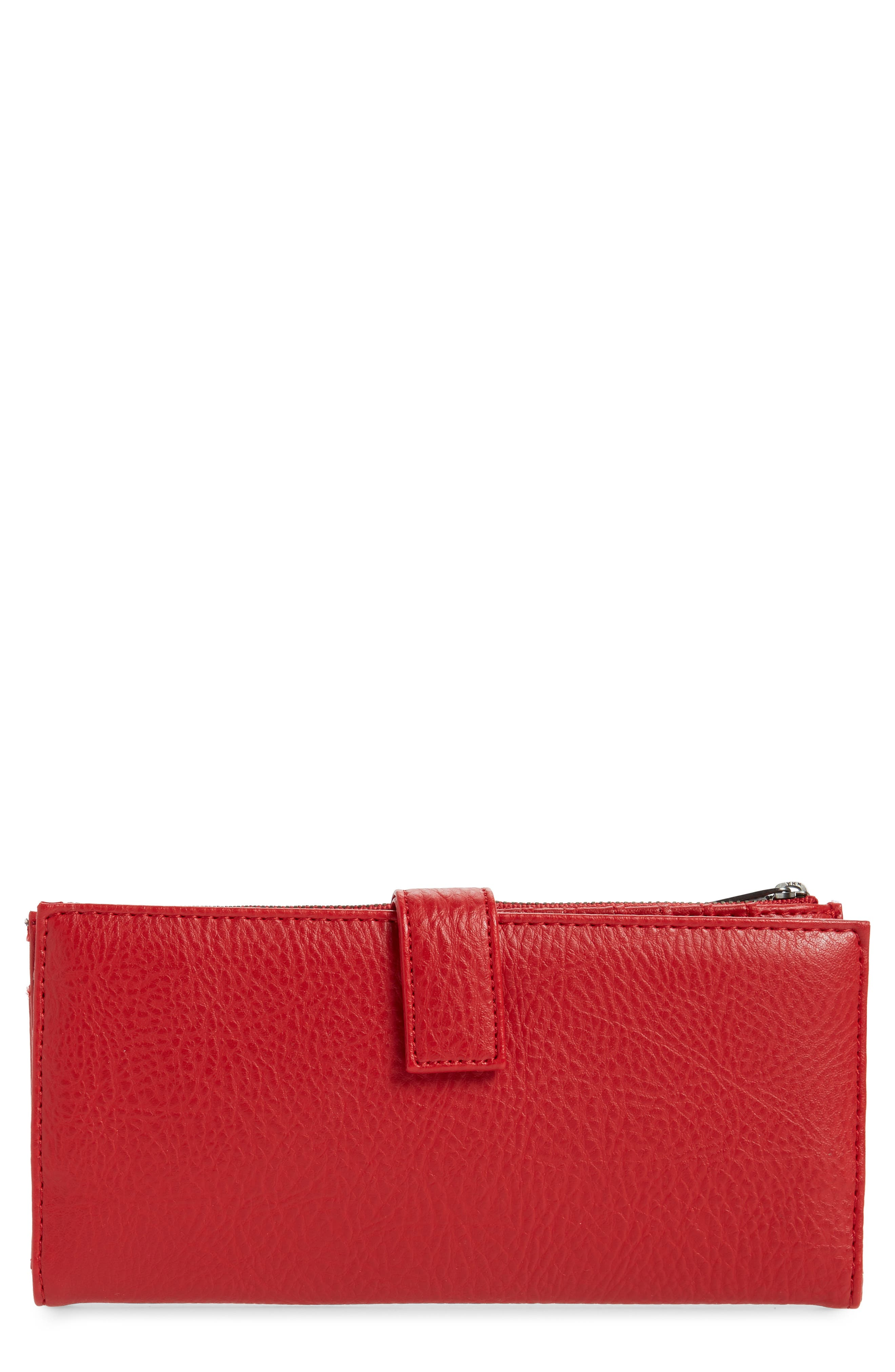 Matt & Nat Motiv Faux Leather Continental Wallet - Red