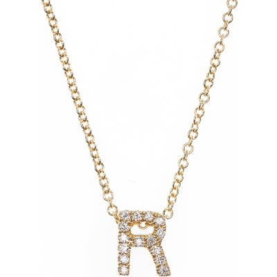 Bony Levy 18K Gold Pave Diamond Initial Pendant Necklace (Nordstrom Exclusive)