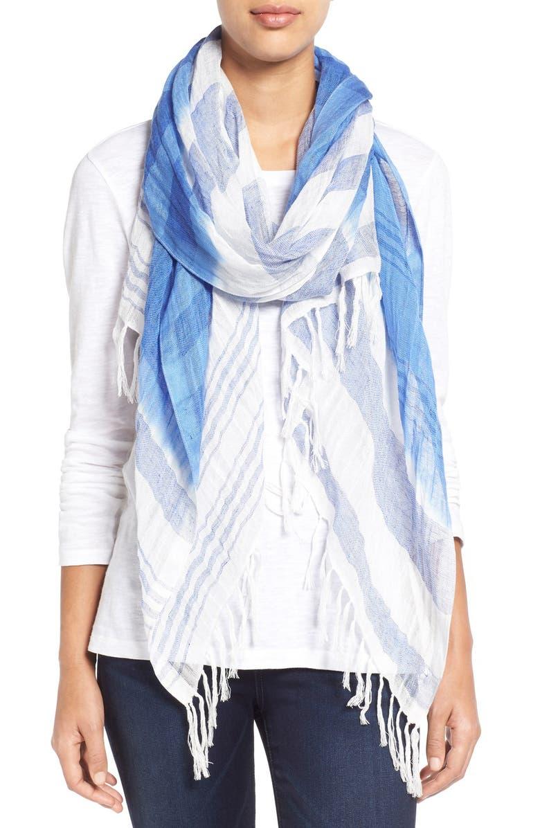 CASLON<SUP>®</SUP> Stripe Linen Blend Scarf, Main, color, 400