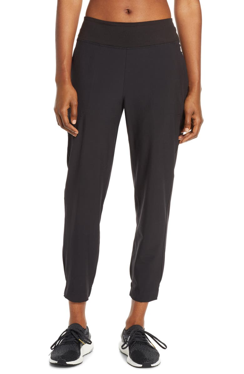 PATAGONIA Happy Hike Studio Pants, Main, color, BLACK