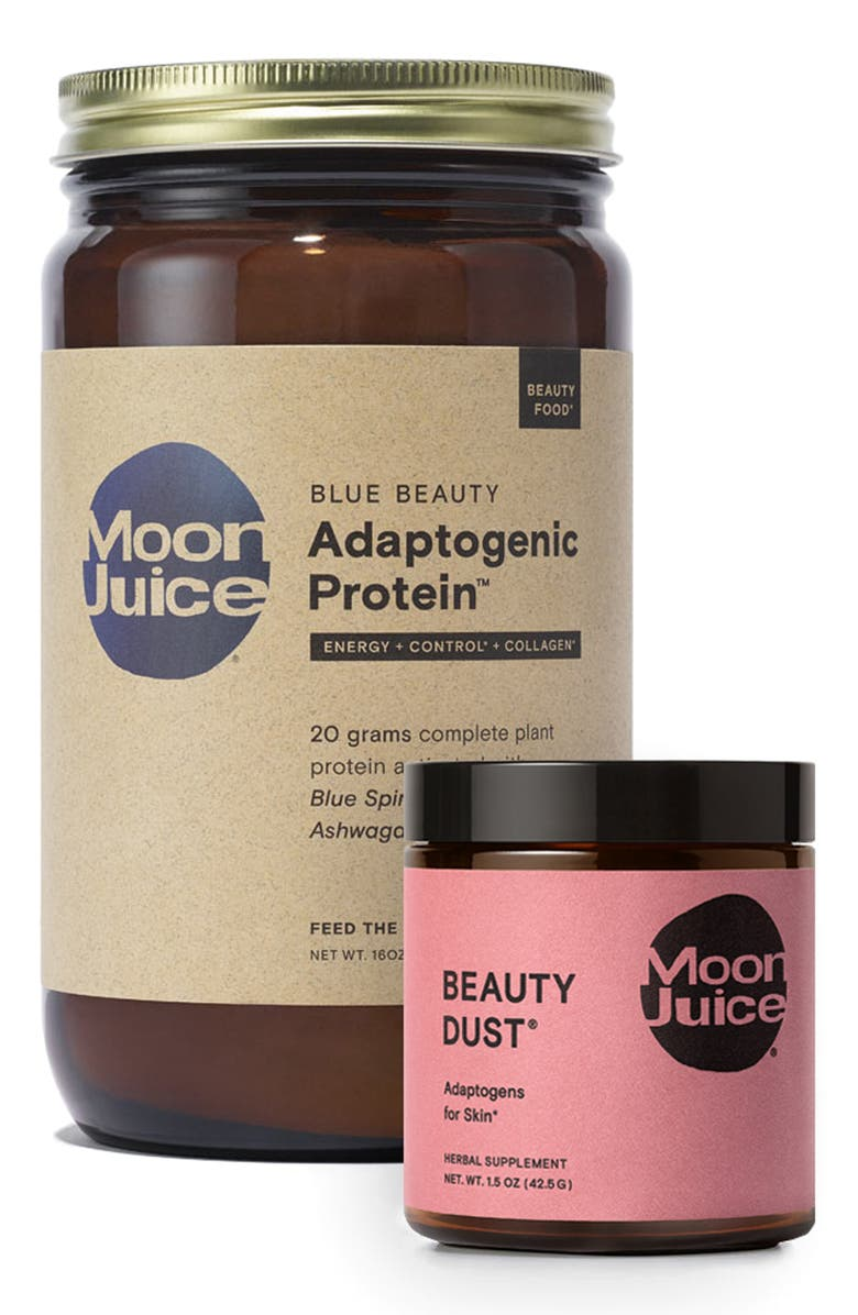 MOON JUICE Beauty Dust<sup>®</sup> & Blue Beauty Adaptogenic Protein<sup>™</sup> Dietary Supplement Duo, Main, color, NO COLOR