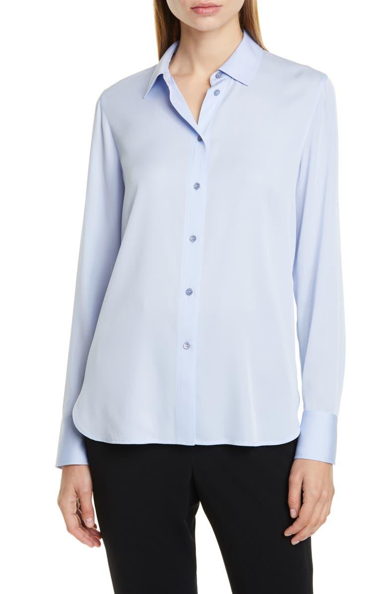 VINCE Slim Fit Shirt, Main, color, POWDER BLUE