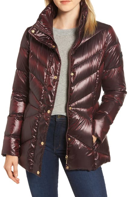 Image of Sam Edelman Funnel Neck Quilted Down Puffer Jacket