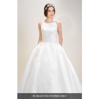 Jesus Peiro Halter Organza Gown, Size IN STORE ONLY - Ivory