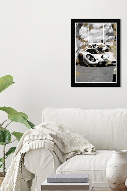 Image of Wynwood Studio Gold & Black Race Car Wall Art