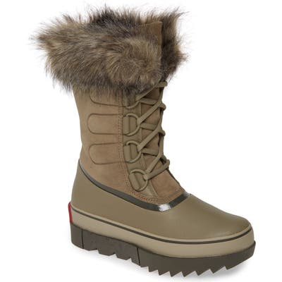 Sorel Joan Of Arctic Next Faux Fur Waterproof Snow Boot- Brown
